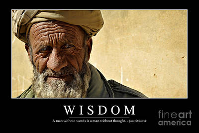 Qalat Photograph - Wisdom Inspirational Quote by Stocktrek Images