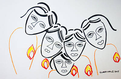 Final Hour Painting - Wise Virgins by Gloria Ssali