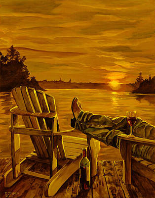 Painting - Wish You  Were Here by Tim  Joyner