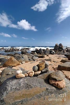 Stack Photograph - Wishing Rocks Aruba by Amy Cicconi