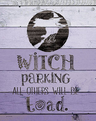 Spells Painting - Witch Parking by Jo Moulton