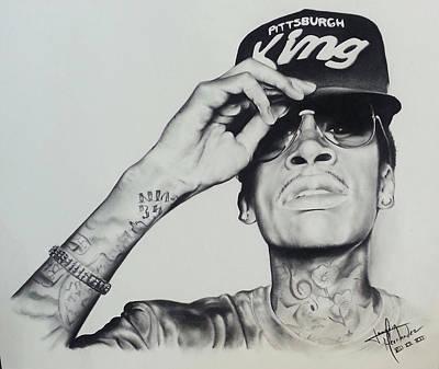 Dallas Drawing - Wiz Khalifa by Joaquin Hernandez