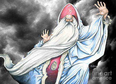 Wizard Art Print by Bill Richards