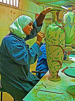 Madaba Photograph - Woman Artisan At Mosaic School In Madaba In Jordan  by Ruth Hager