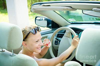 Grateful Dead - Woman driving a car by Nikita Buida