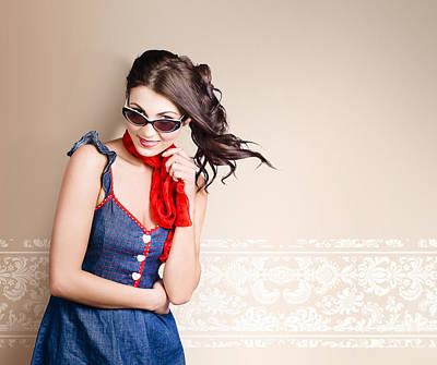 Woman Hair Style Portrait. Beauty Salon Interior Print by Jorgo Photography - Wall Art Gallery