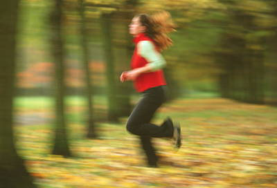 Jogger Wall Art - Photograph - Woman Jogging by Matthew Munro/science Photo Library