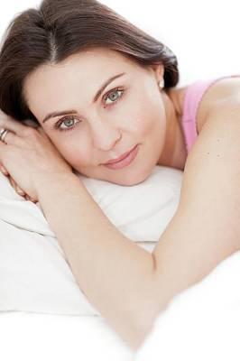 Woman Lying In Bed Art Print by Ian Hooton
