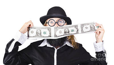 Banknote Photograph - Woman Making Crazy Money by Jorgo Photography - Wall Art Gallery