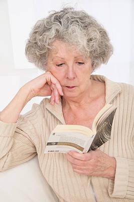Woman Reading A Book Art Print