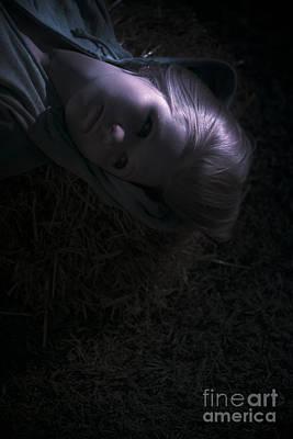 Moonlit Night Photograph - Woman Sleeping Under Moonlight by Jorgo Photography - Wall Art Gallery