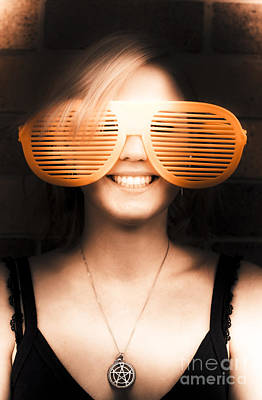 Attitude Photograph - Woman With Funny Sunglasses by Jorgo Photography - Wall Art Gallery