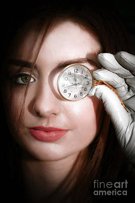 Photograph - Woman With Monocle by Jorgo Photography - Wall Art Gallery