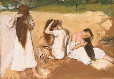 Ballet Painting - Women Combing Their Hair by Edgar Degas