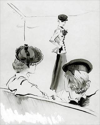 Women Wearing Hats Art Print by Rene Bouet-Willaumez