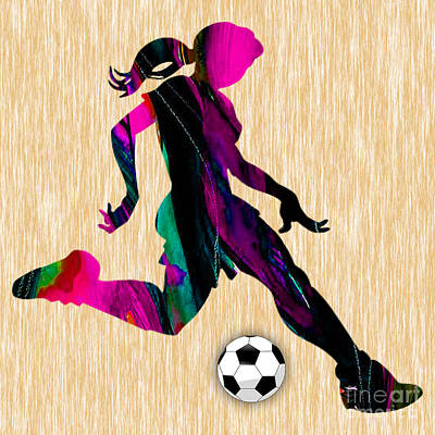 Mixed Media - Women's Soccer by Marvin Blaine