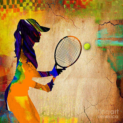 Tennis Mixed Media - Womens Tennis by Marvin Blaine