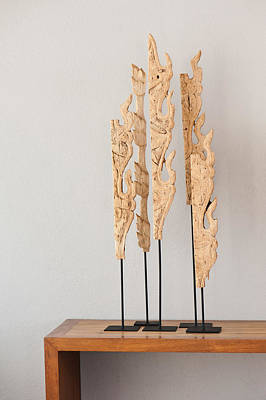 Photograph - Wood Sculpture  by U Schade