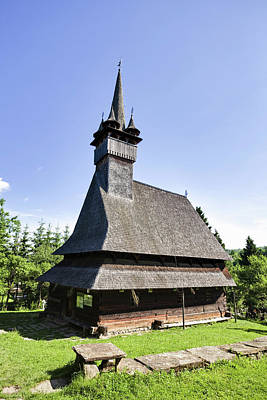 Romania Photograph - Wooden Church (biserica De Lemn by Martin Zwick