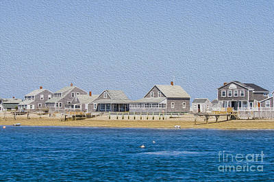 Ocean Side Digital Art - Wooden Houses On Cape Cod by Patricia Hofmeester