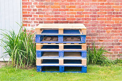 Wooden Platform Photograph - Wooden Pallets by Tom Gowanlock