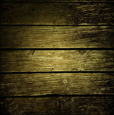 Wooden Planks Art Print by Les Cunliffe