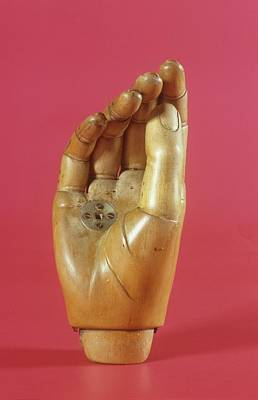 Amputee Photograph - Wooden Prosthetic Hand by Science Photo Library