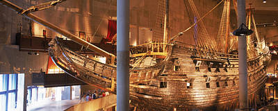 Reconstruction Photograph - Wooden Ship Vasa In A Museum, Vasa by Panoramic Images