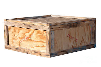 Photograph - Wooden Shipping Box by Gunter Nezhoda