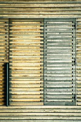 Cabin Window Photograph - Wooden Shutters by Tom Gowanlock