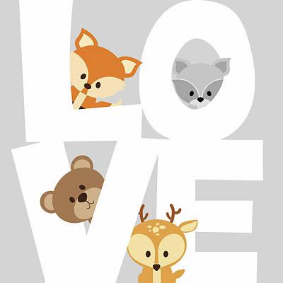 Woodland Love Art Print by Anna Quach