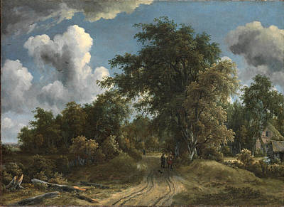 Painting - Woodland Road by Meindert Hobbema