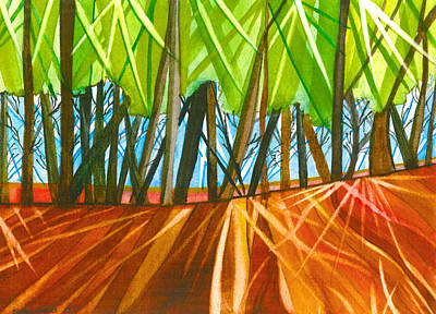 Shards Painting - Woodland Shadows by Emma Childs