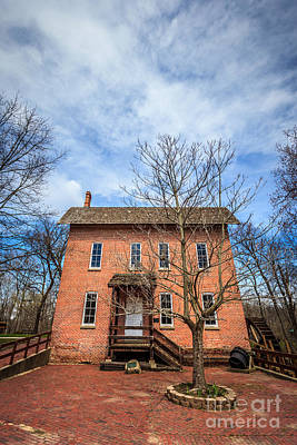 Indiana Photograph - Wood's Grist Mill In Deep River County Park by Paul Velgos
