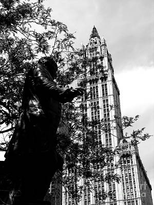 Photograph - Woolworth Building In Black And White by Jacqueline M Lewis