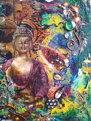 Budda Mixed Media - Woosah by Megan Henrich