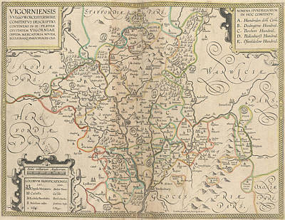 Cartography Photograph - Worcestershire by British Library