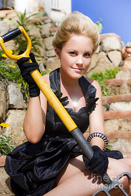 Youthful Photograph - Working Lady by Jorgo Photography - Wall Art Gallery
