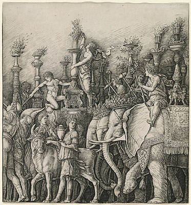 Workshop Of Andrea Mantegna Or Attributed To Zoan Andrea Art Print
