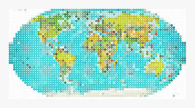 Earth Map Painting - World Map by Celestial Images