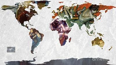 World Map  Degas 1 Art Print