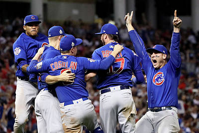 Photograph - World Series - Chicago Cubs V Cleveland by Ezra Shaw