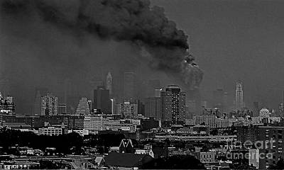Photograph - World Trade Center Going Down by Kendall Eutemey