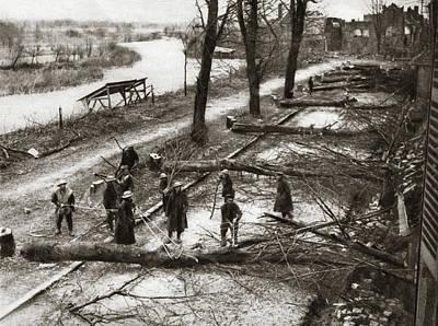 World War I Barricade Art Print by Granger