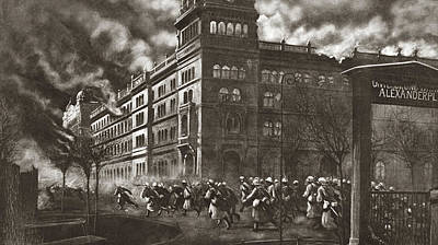 Berlin Drawing - World War I Berlin by Granger