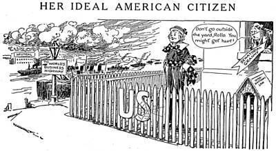 World War I Cartoon, 1916 Art Print by Granger