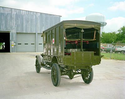 1918 Photograph - World War I Field Ambulance by Us Army