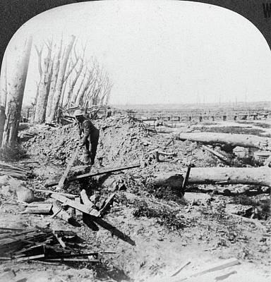 Gleaning Painting - World War I Menin Road by Granger