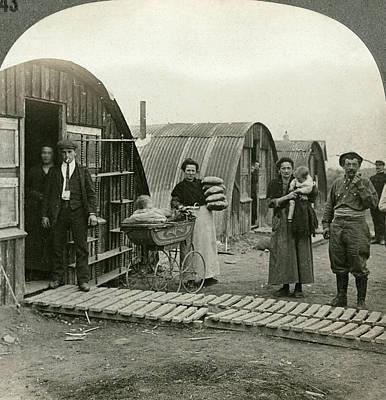 Pram Painting - World War I Poverty, C1919 by Granger