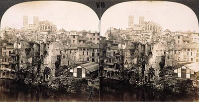 Photograph - World War I Verdun Ruins by Granger